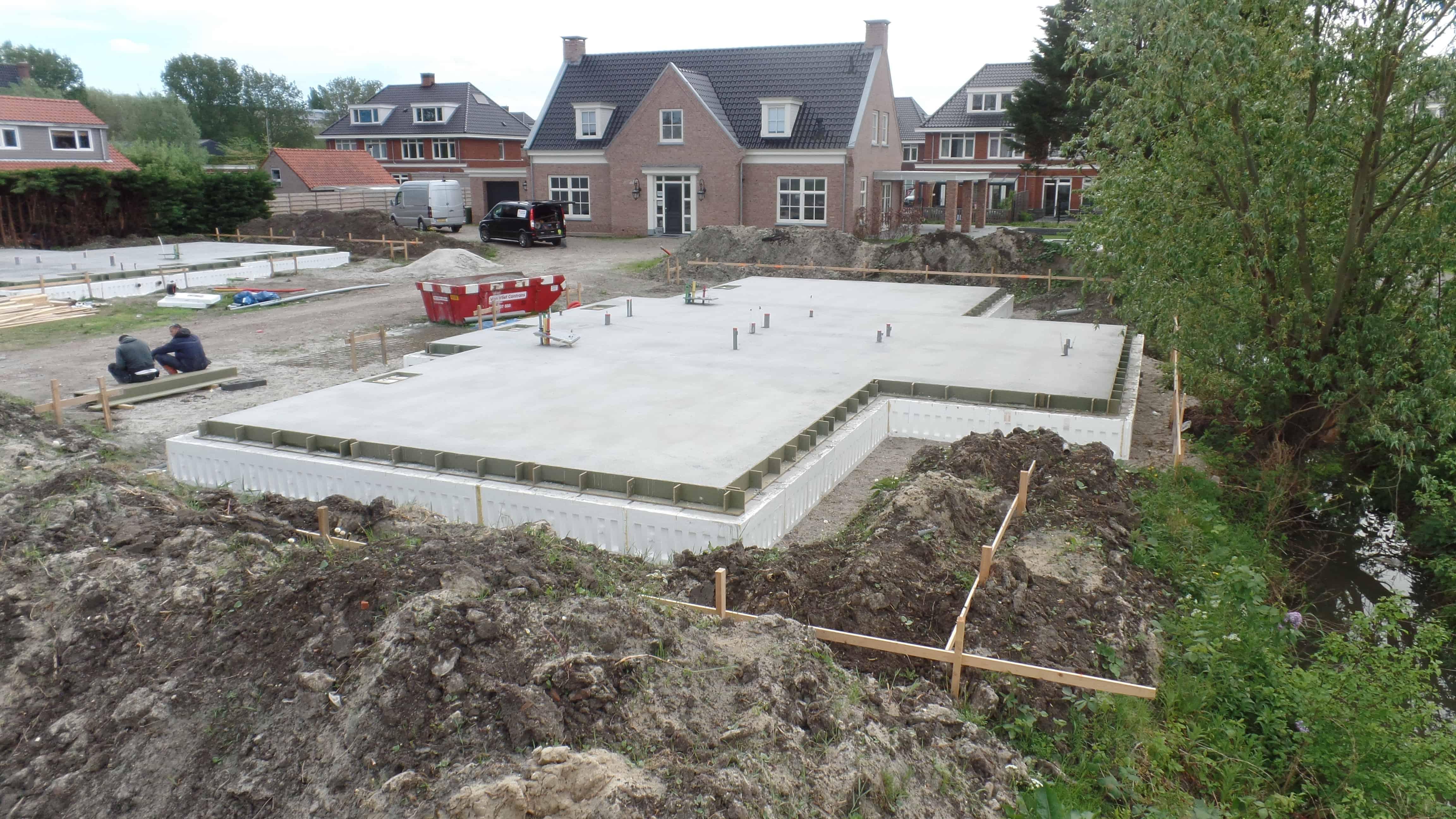 geïsoleerd betonvloer